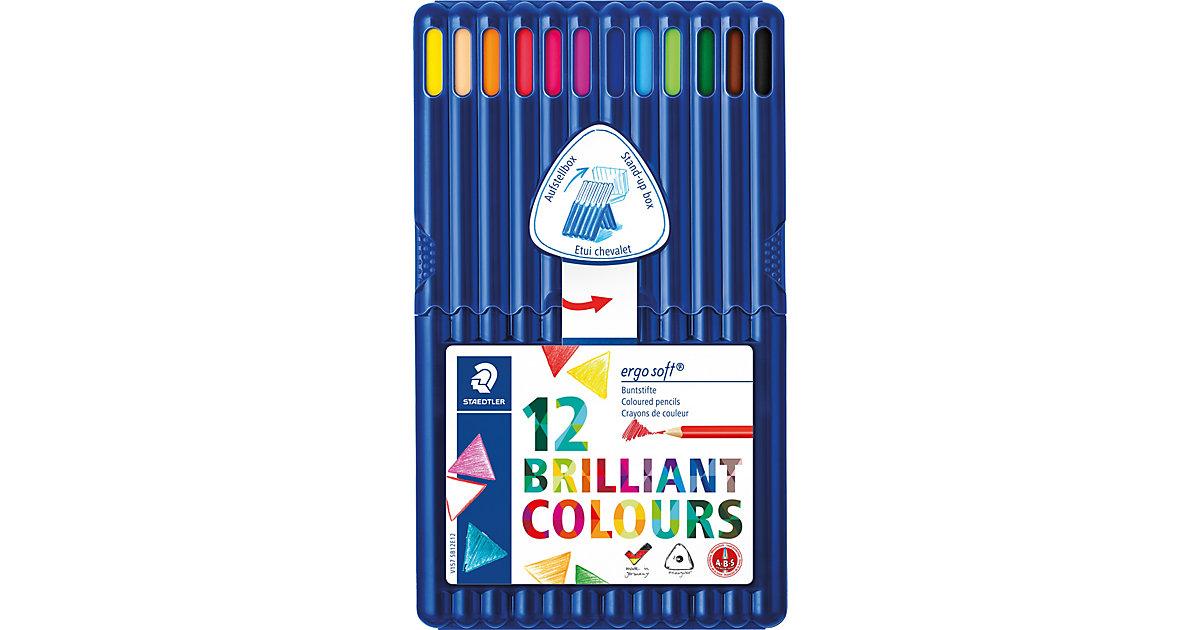 Buntstifte ergo soft 3-Kant, 12 Farben in Aufstellbox