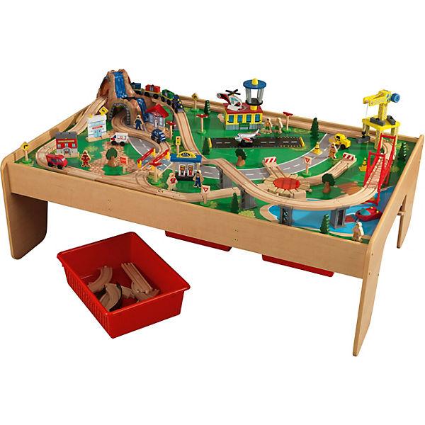 Spieltisch Eisenbahn spieltisch mit eisenbahnset 120 teile kidkraft mytoys
