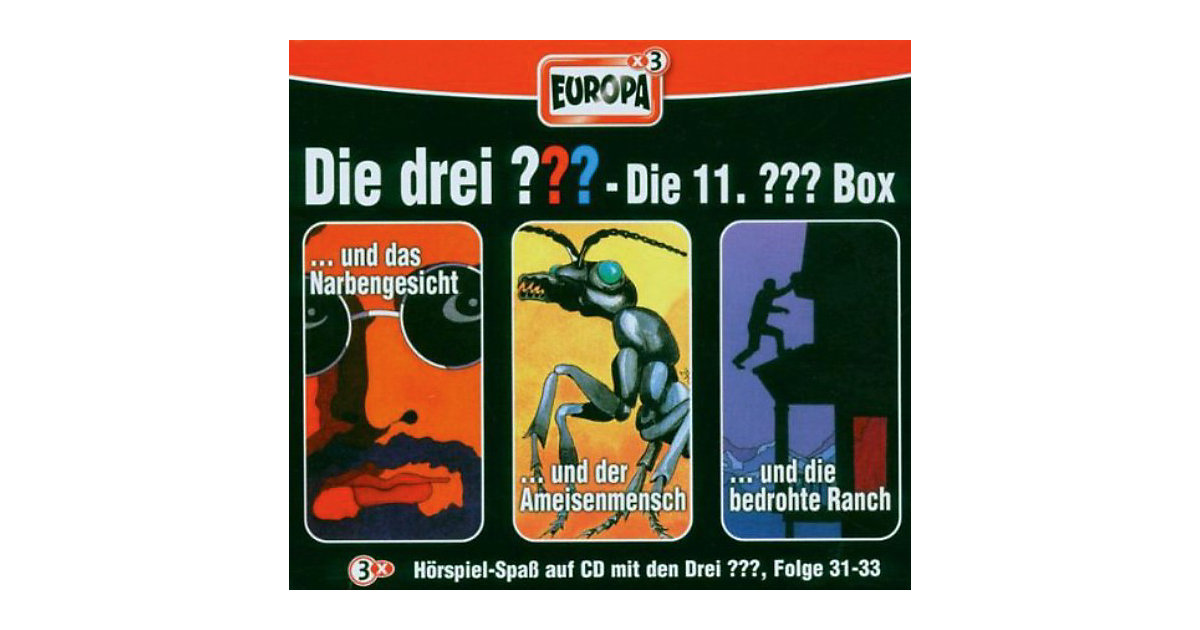 CD Die Drei ??? 11/3er Box - Folge 31-33 Hörbuch