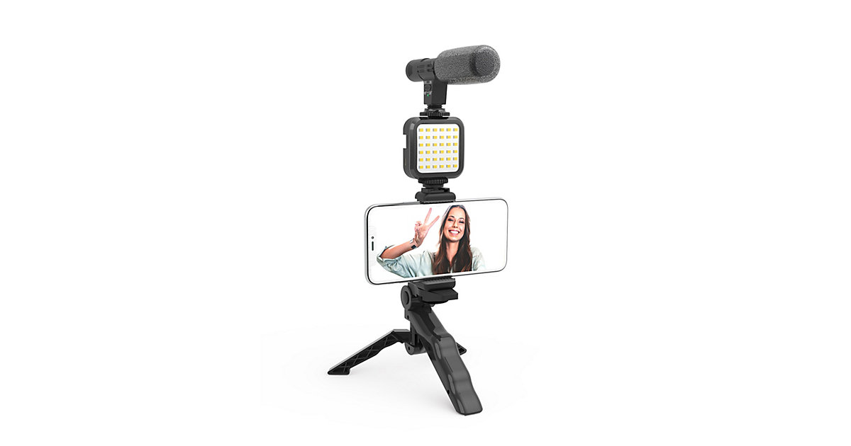 DIGIPOWER LIKE ME 4-teiliges Vlogging Set schwarz