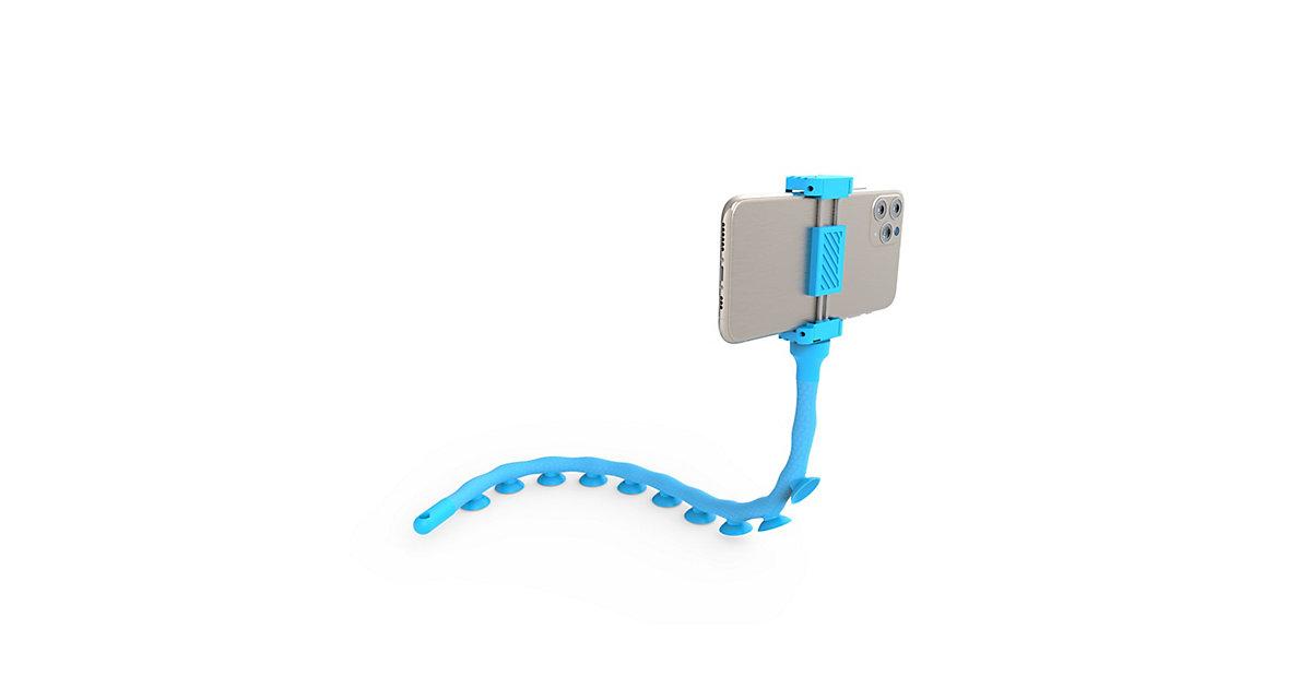 DIGIPOWER Octopus - hellblau flexible Smartphone-Halterung mit Saugnäpfen
