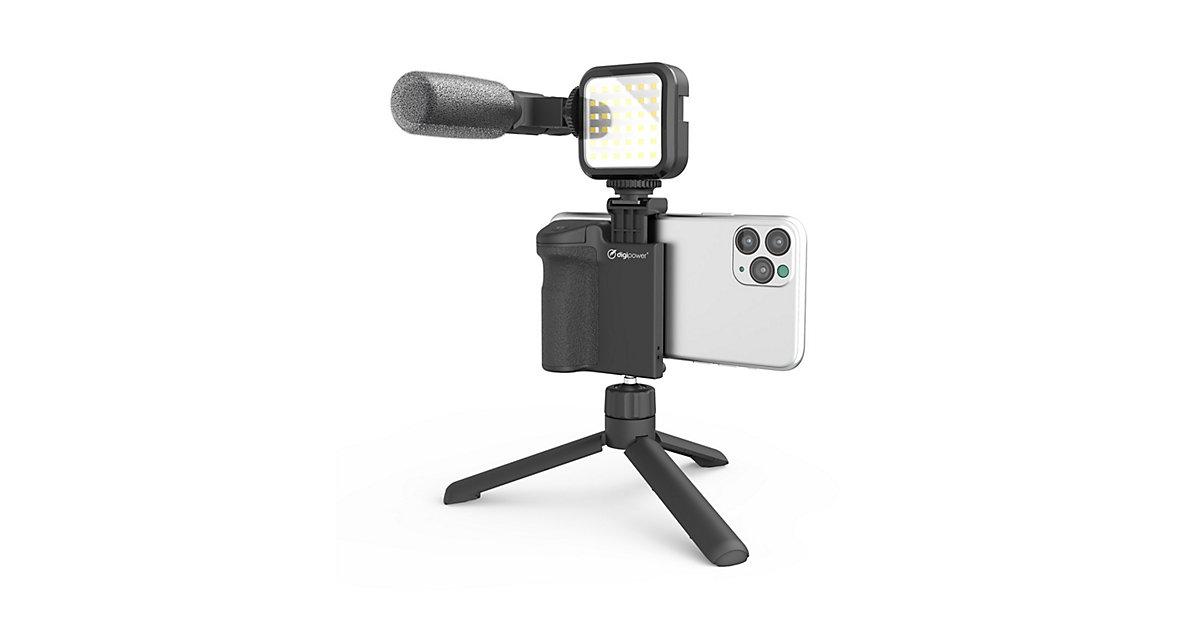 DIGIPOWER FOLLOW ME 4-teiliges Vlogging Set schwarz