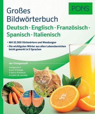 Buch - PONS Großes Bildwörterbuch Deutsch, Englisch, Französisch, Spanisch, Italienisch
