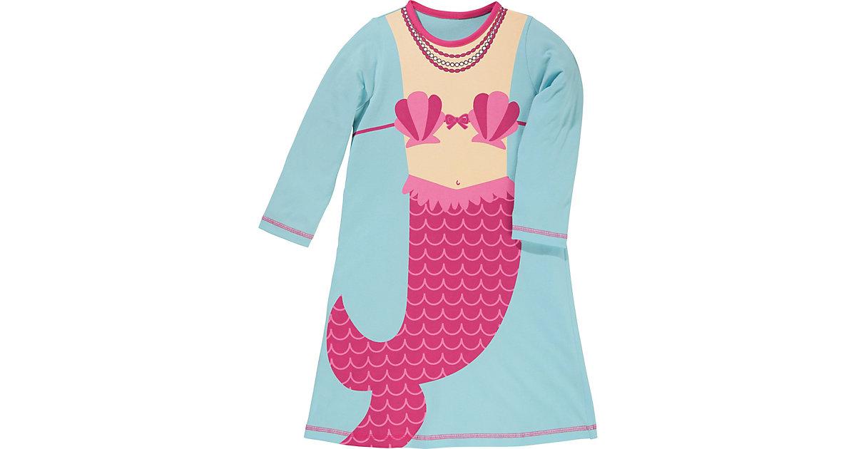 Kinder-Nachthemd Single-Jersey türkis Gr. 86/92 Mädchen Kinder