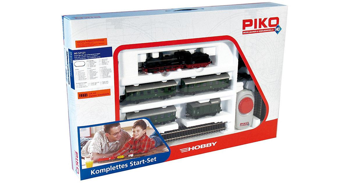 PIKO Spur H0 Start-Set Personenzug G7.1 mit 4 P...