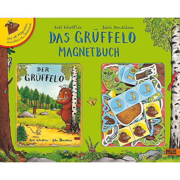 Das Grüffelo Magnetbuch, mit 60 Magneten in Spielbuch-Koffer, Axel Scheffler, Julia Donaldson