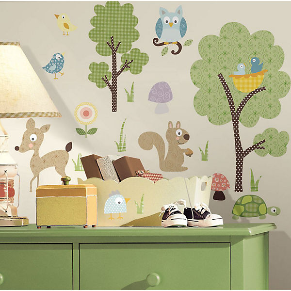 Wandsticker Waldtiere, 89-tlg., RoomMates | myToys