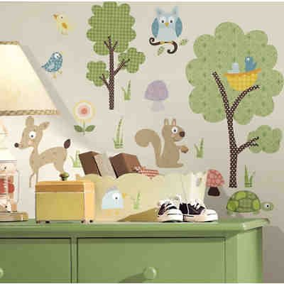 wandsticker wandtattoos f r das kinderzimmer g nstig online kaufen mytoys. Black Bedroom Furniture Sets. Home Design Ideas