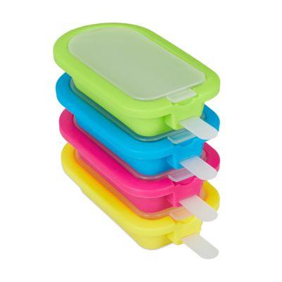Eisformen 4er Set Silikon mehrfarbig