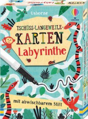 Tschüss-Langeweile-Karten: Labyrinthe
