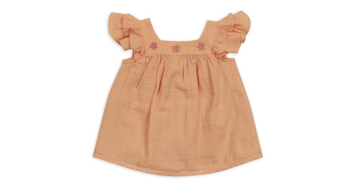 Kleider - aus Musselinstoff -  orange Gr. 56/62 Mädchen Kinder