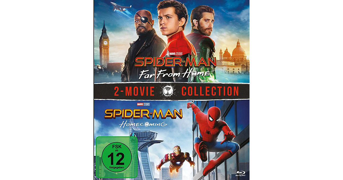 BLU-RAY Spiderman Far from Homme & Homecoming - BOX Hörbuch
