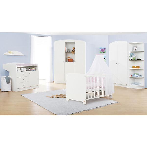 Komplett Kinderzimmer JIL, 3-tlg. (Kinderbett, Wickelkommode und 2 ...