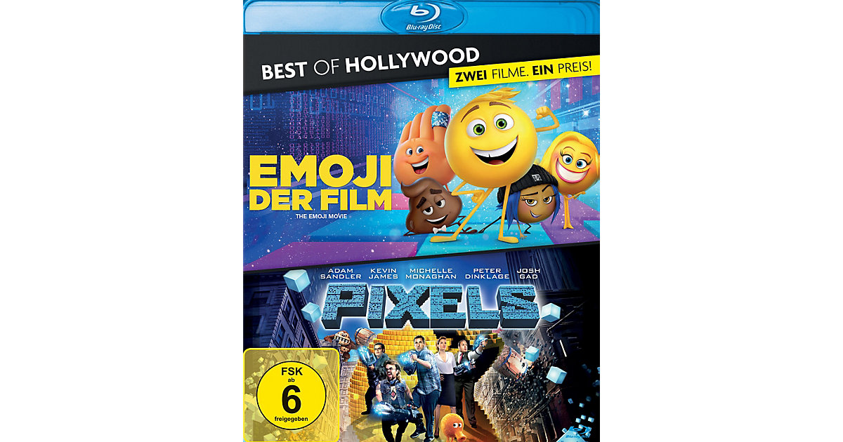 BLU-RAY Emoji - Der Film & Pixels - Box (2 DVDs) Hörbuch