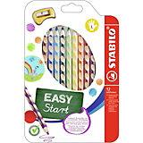 Набор цветных карандашей для левшей, 12 цв., EASYCOLORS