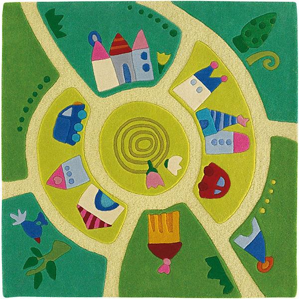 Kinderteppich grün haba  Kinderteppich Spielwelt, 140 x 140 cm, Haba | myToys