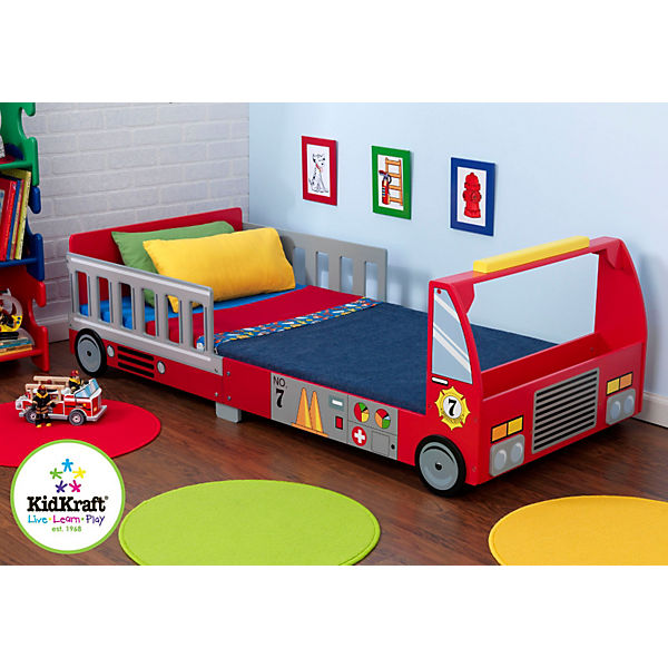 kinderbett feuerwehr 70 x 140 cm kidkraft mytoys. Black Bedroom Furniture Sets. Home Design Ideas