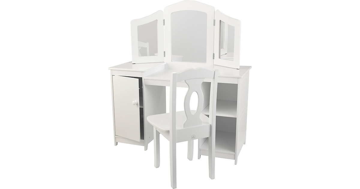 KidKraft · Frisierkommode Deluxe mit Stuhl, weiß