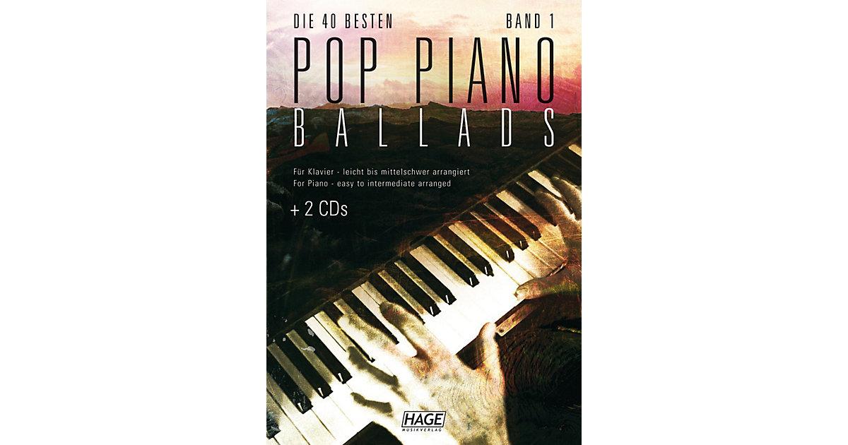 Die 40 besten Pop Piano Ballads, mit 2 Audio-CDs
