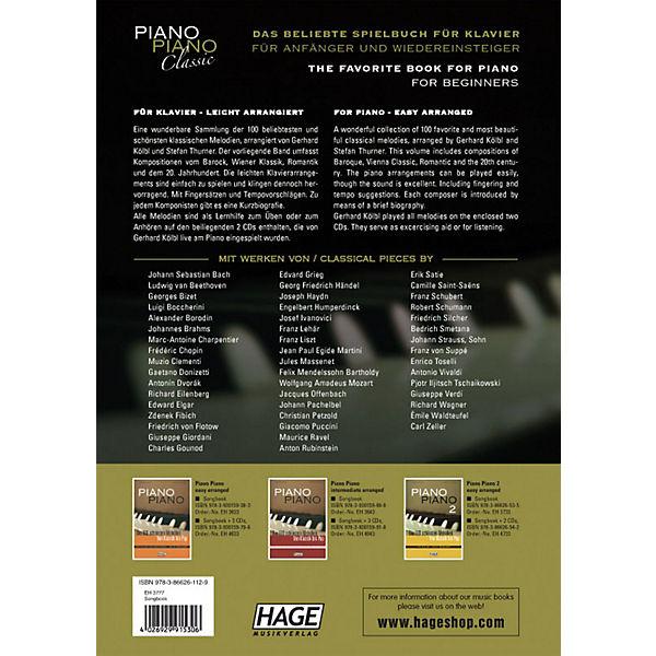 Piano Piano Classic - Die 100 schönsten klassischen Melodien, mit 2 Audio-CDs, Gerhard Kölbl, Stefan Thurner