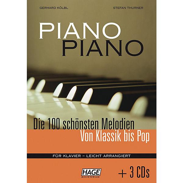 Piano Piano 1 - Die 100 schönsten Melodien von Klassik bis Pop, leicht arrangiert, mit 3 Audio-CDs, Gerhard Kölbl, Stefan Thurner