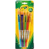 Набор кисточек для красок, 5шт., Crayola
