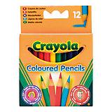 Набор из 12 коротких цветных карандашей, Crayola