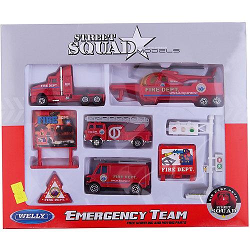 "Welly Набор ""Служба спасения - пожарная команда""  9 штук от Welly"