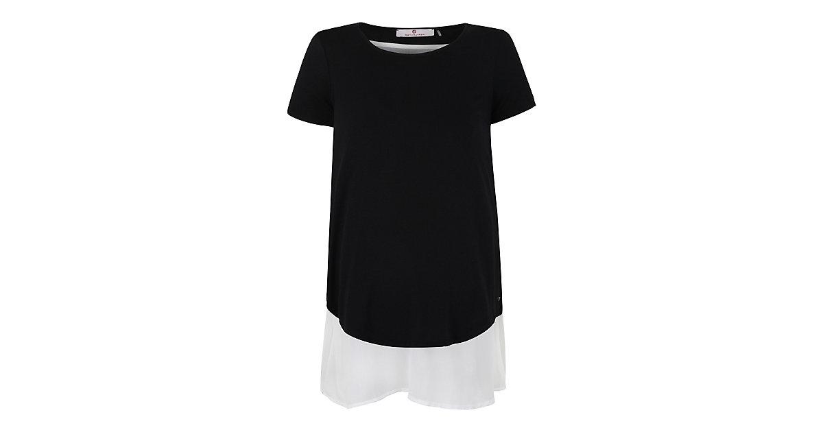 T-Shirt Lagenlook  mit Stillfunktion Stillshirts schwarz Gr. 38 Damen Erwachsene