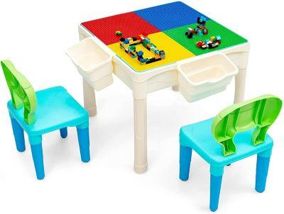 Kindertisch 6 in 1 bunt