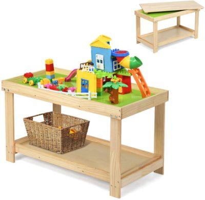 Spieltisch mit Ablage natur