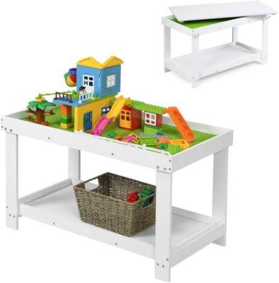 Spieltisch mit Ablage weiß