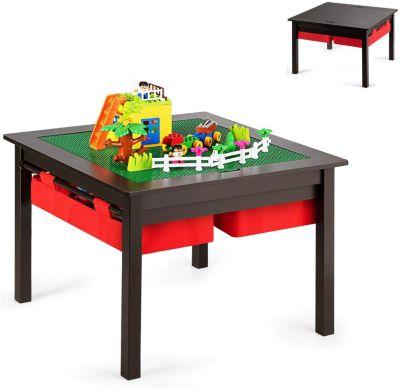 Spieltisch mit doppelseitiger Tischplatte braun