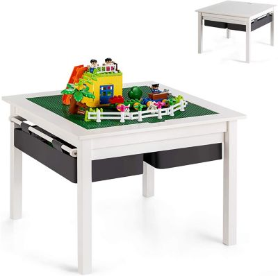 Spieltisch mit doppelseitiger Tischplatte weiß