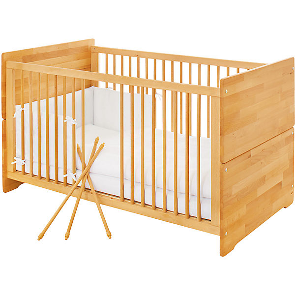 kinderbett natura fsc zertifizierte buche vollmassiv ge lt 70 x 140 cm pinolino mytoys. Black Bedroom Furniture Sets. Home Design Ideas