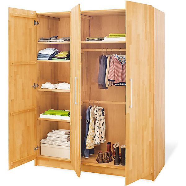 kleiderschrank natura 3 t rig fsc zertifizierte buche vollmassiv ge lt pinolino mytoys. Black Bedroom Furniture Sets. Home Design Ideas