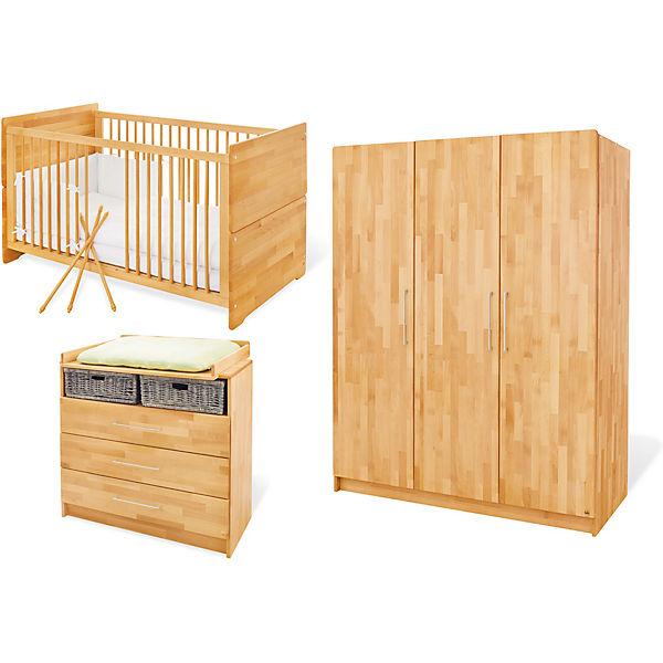 Komplett Kinderzimmer groß NATURA, 3-tlg. (Kinderbett ... | {Kinderzimmer buche 32}