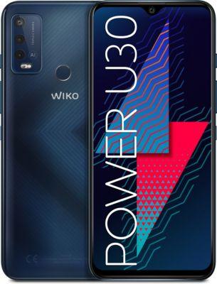 Wiko POWER U30 Smartphone (17,32 cm(6,82 Zoll), 64 GB, 4 GB RAM, Android 11) Carbon blue blau/grau