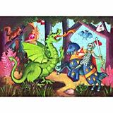 """Пазл """"Рыцарь и дракон"""", 36 деталей, DJECO"""