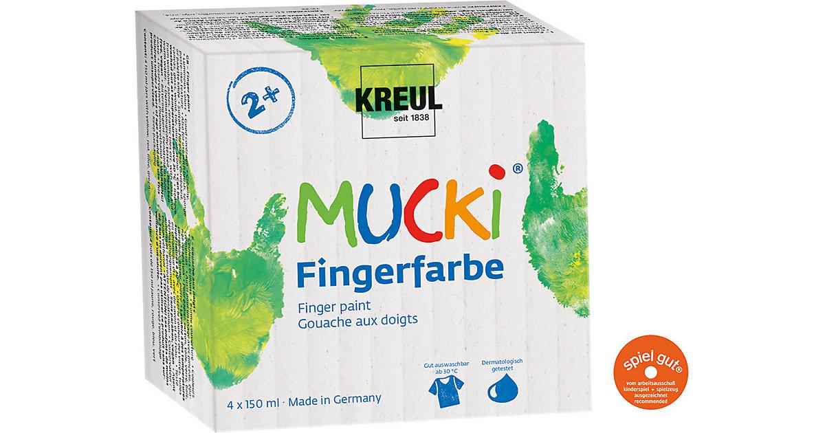 Mucki Fingerfarbe, 4 x 150 ml