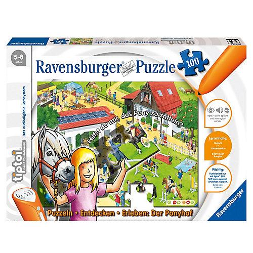 Ravensburger tiptoi: Puzzlen, Entdecken, Erleben - Ponyhof 100 Teile Puzzle (ohne Stift)