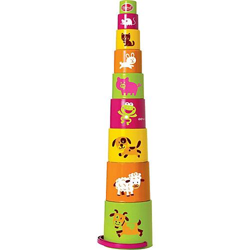 Ведерко-пирамидка Gowi, 9 предметов, звери