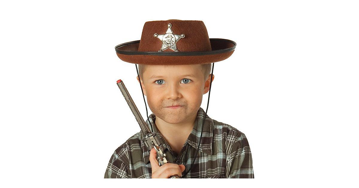 Cowboyhut braun Jungen Kinder