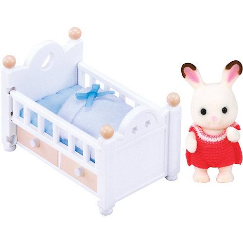 """Набор """"Малыш шоколадный заяц с кроваткой"""" Sylvanian Families от Эпоха Чудес"""