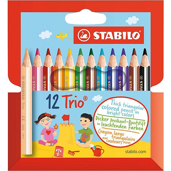 """Цветные карандаши Stabilo """"Trio"""" 12 цветов"""