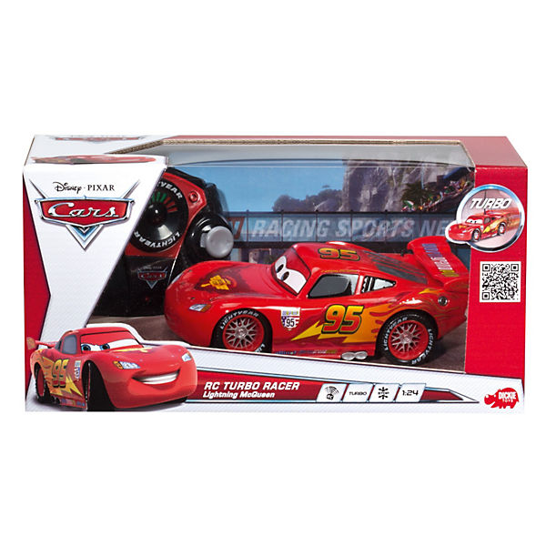 dickie rc cars 2 lightning mcqueen 27 40 mhz disney cars. Black Bedroom Furniture Sets. Home Design Ideas