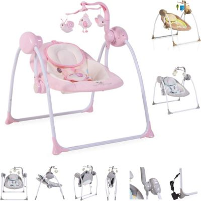 Babywippe Swing+ Babywippen pink/rosa