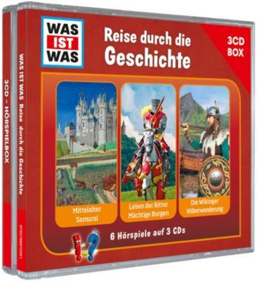 CD Was ist Was (3 CD-Box) Reise durch die Geschichte Hörbuch
