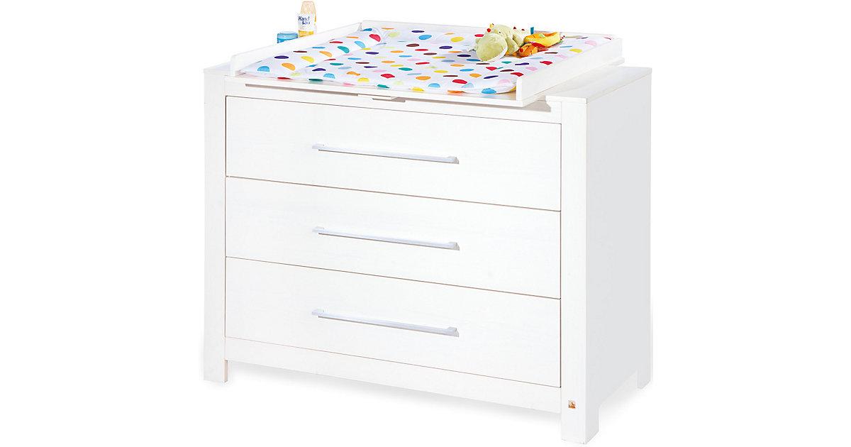 Wickelkommode breit PURO, Fichte vollmassiv, Weiß lasiert weiß   Kinderzimmer > Babymöbel > Wickelkommoden   Pinolino
