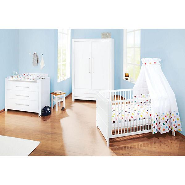 komplett kinderzimmer puro 3 tlg kinderbett wickelkommode breit und 2 t riger kleiderschrank. Black Bedroom Furniture Sets. Home Design Ideas